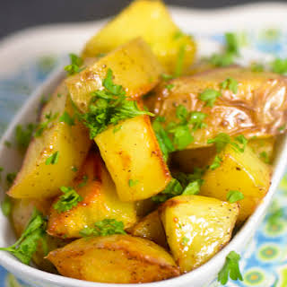 Honey Roasted Potatoes.