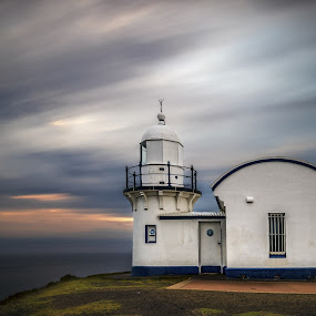 Tacking Point Light House by Michael Lucchese - Landscapes Sunsets & Sunrises ( clouds, nsw, tacking point, nisi filters, nisi australia, port macquarie, sky, light house, australia, outdoors, long exposure, sunrise, nikon )