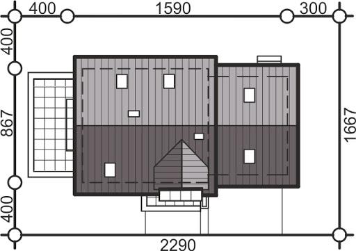 Pinczer 9 z garażem 2-st. - Sytuacja