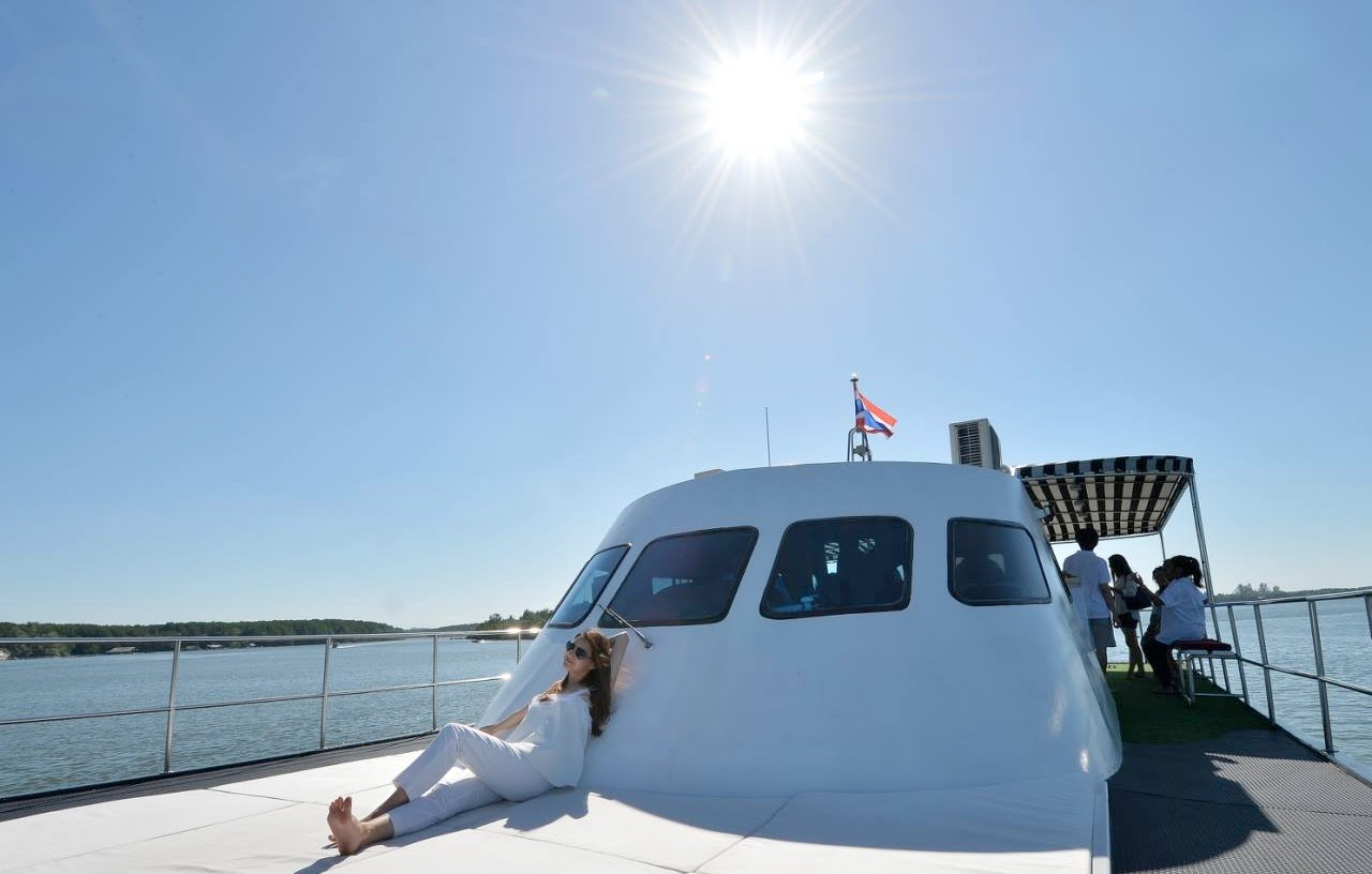 Luxury Sunset Cruise aboard Live Life Andaman Catamaran at the Coastline of Krabi