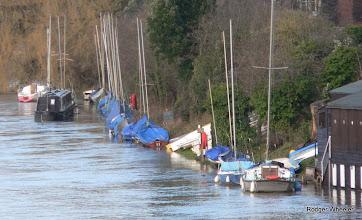 Photo: AQSCmoorings flood 6 Jan 2014