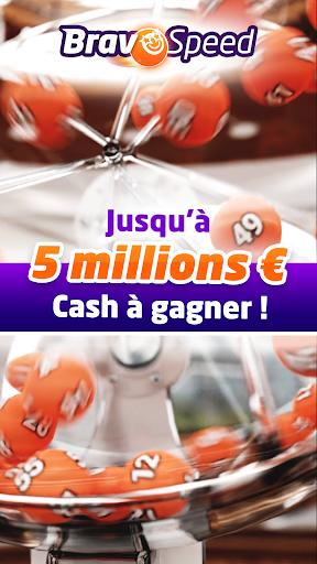 Bravospeed : loterie gratuite u00e0 5Mu20ac  captures d'u00e9cran 1