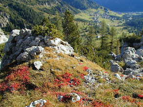 Photo: Colfoscu , Dolomiten: Aufstieg zum Piscadu Klettersteig; 2004