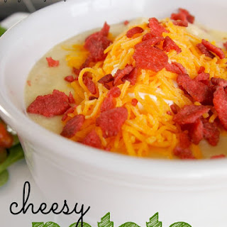 Cheesy Potato Soup {recipe}