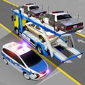 Police Car Transporter Simulator Cargo Truck Games icon