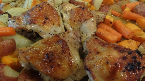 Roasted Chicken With Vegetables--bonnie's Recipe