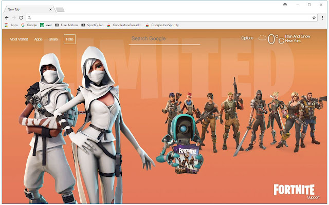 Fortnite Wallpapers New Tab Themes