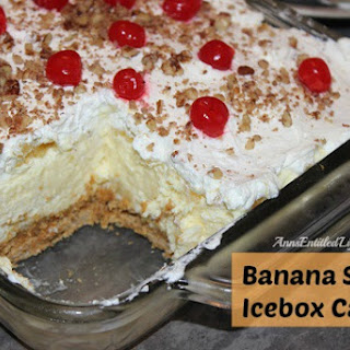 Banana Split Icebox Cake.