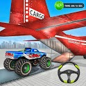 Monster Truck Car Transport Plane Games: Ship Game icon