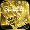 Gold Sparkle Keyboard Theme icon