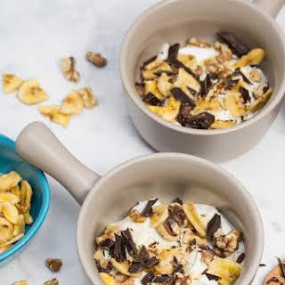 Chunky Monkey Greek Yogurt Parfaits.