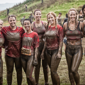 Tough Mudders by Phil Portus - Sports & Fitness Other Sports ( ladies, female, 2014, skipton, yorkshire, womwn, tough, august, young, mudder )