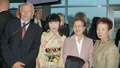 Photo: Państwo Stanisław i Yoshimi Filipek, Pani Yuriko Yamanaka (żona Ambasadora Japonii w Polsce), Pani Midori Kambara