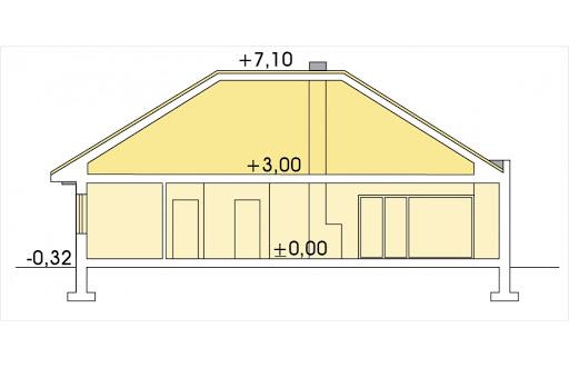 Alabama 4 wersja B bez garażu - Przekrój