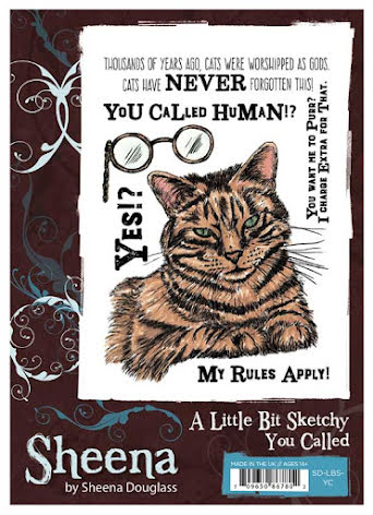 Sheena Douglass A Little Bit Sketchy A6 Stamp Set - You Called UTGÅENDE