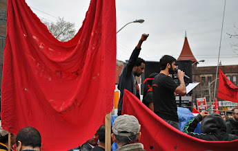 Photo: A fist is raised in solidarity with workers all across Canada.