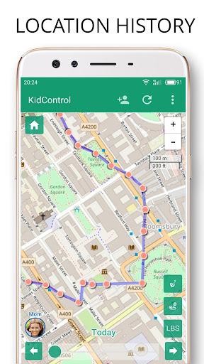 Family GPS tracker Kid Control Screenshot