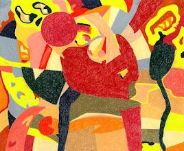 """Photo: Тадеуш Жаховский """"Движение. Motion"""", Title: Motion / Движение  Artist:Tadeush Zhakhovskyy / Тадеуш Жаховский Medium: Painting. mixed techique on cardboard, смешанная техника, дизайнерский картон. 50 cm x 61 cm x / 20 in x 24 in. In private collection. О наличии картины просьба контактировать галерею.Также предлагается напечатанная на холсте репродукция этой картины в любом размере."""