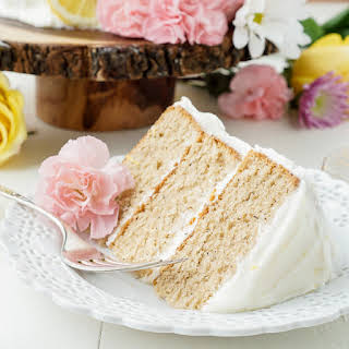 Earl Grey Cake with Lemon Buttercream.