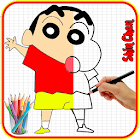 How To Draw Shin Chan icon