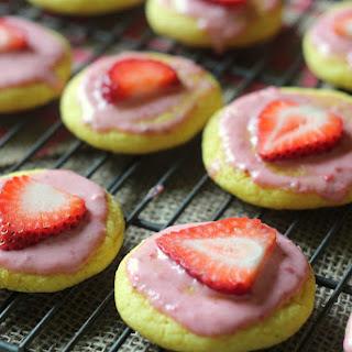 Strawberry Lemonade Cake Mix Cookies