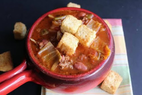 Shoney's Bean and Beef Cabbage Soup