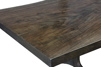 Photo: herehttp://dorsetcustomfurniture.blogspot.com/2012/07/expresso-finish-claro-walnut-table.htmlalso herehttp://www.jamieschachtel.com/transitional/6p6nezj06amb45j583d0kkdamahar4