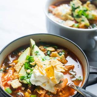 Pressure Cooker Chicken Tortilla Soup.
