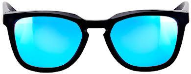 100% Hudson Sunglasses: Matte Black Frame with HiPER Blue Multilayer Mirror Lens alternate image 1