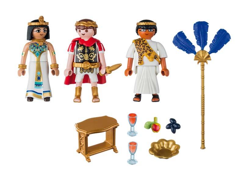 Contenido real de Playmobil® 5394 César y Cleopatra