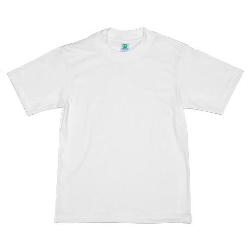 franela blanca cuello redondo talla 10
