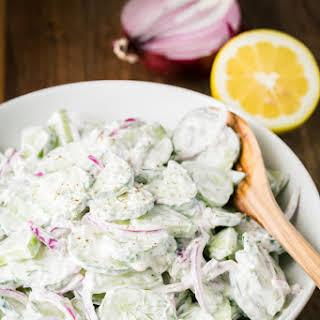 Creamy Cucumber Salad.