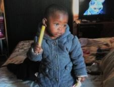 Phiwokuhle Ndlovu, 2, was allegedly poisoned by her father Russel Makhubela, 32, who is on the run and believed to have also ingested the poison.