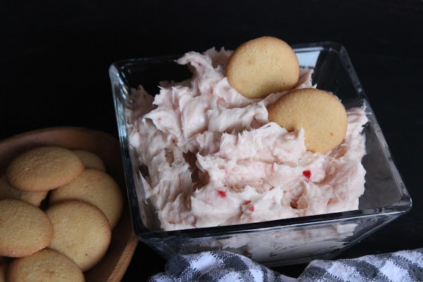Dip using graham crackers or vanilla wafers or whatever you like.