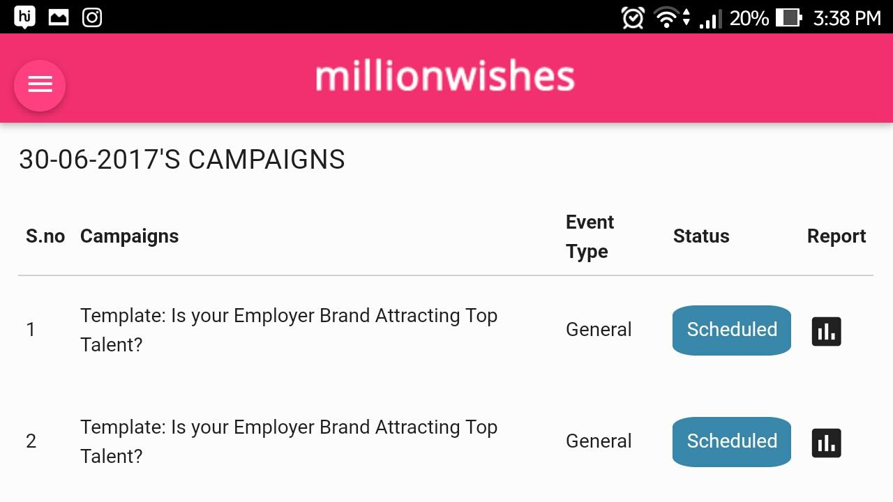 Millionwishes- screenshot