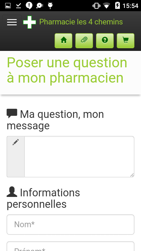 Pharmacie les 4 chemins- screenshot
