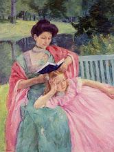 """Photo: Mary Cassatt, """"Lettura alla figlia"""" (1910)"""