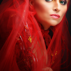 Red is Beautiful by Anthony Austria - People Portraits of Women