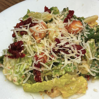 Sundried Tomato Caesar Salad with Sundried Tomato Caesar Dressing