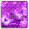 Neon Purple Butterfly Keyboard Theme