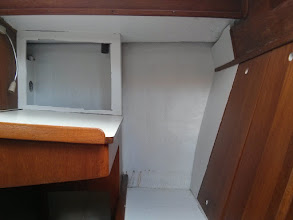 Photo: Nav Station with overhead painted white
