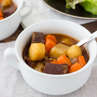 Slow-Cooker Beef & Root Vegetable Stew {Gluten-Free, Dairy-Free}