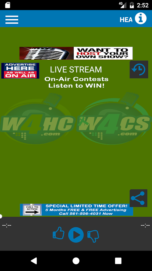 W4HC Radio & W4CS Radio- screenshot