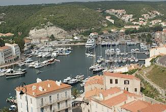 Photo: 17 h 07- Port de Bonifacio depuis la haute ville