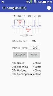 QTc calculadora - náhled