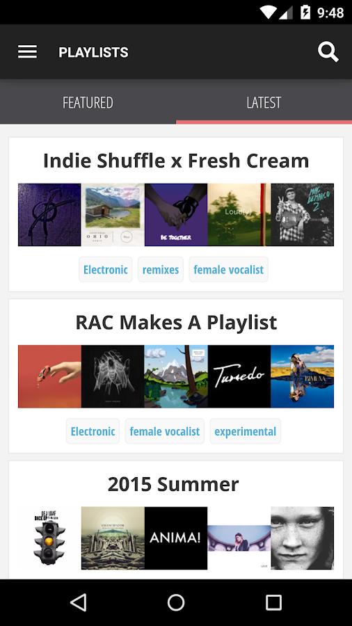 Indie Shuffle - Free New Music - screenshot