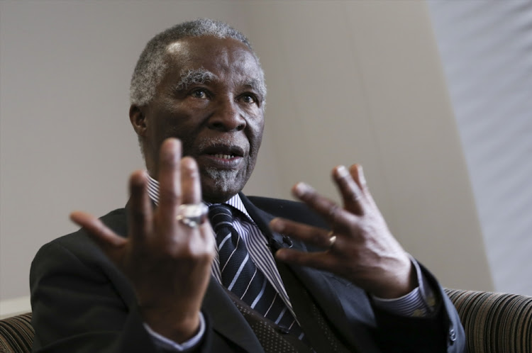 Former South African President Thabo Mbeki. File photo.