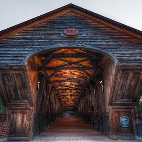 Moravian Bridge by Jeremy Yoho - Buildings & Architecture Bridges & Suspended Structures ( wood, covered bridge, historic district, historical, bridge, historic )