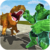 Monster Superhero vs Dinosaur Battle: City Rescue