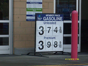 Photo: Gas was about 6 cents per gallon cheaper here than at home!